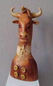 Modern Sculpture - Bull ... zoon van Alex Johanson