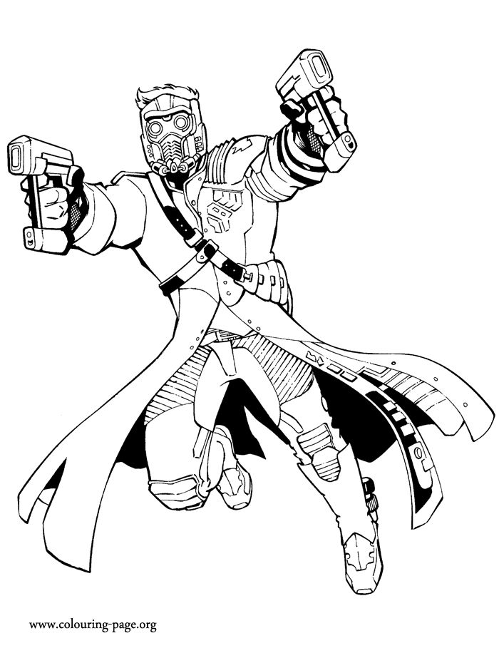 guardians of the galaxy star lord coloring page