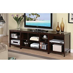 This TV stand comes in a refreshing espresso color finish that will enhance your living room. Capable of accommodating flat panel TVs up to 75 inches, this entertainment center is made of birch veneer and MDF.: Lcd Tv, Living Room, Tvs, Tv Stands, Tv Console, Espresso Tv, Entertainment Centers