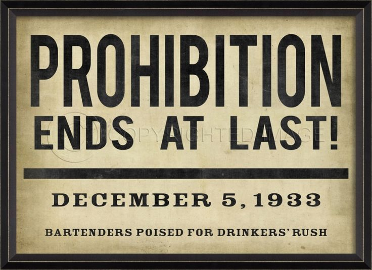 """a sign like this for the mock bar that says """"prohibition ends here"""" with """"date"""" of wedding"""