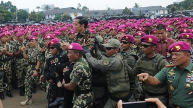 Di Mako Marinir, Presiden Jokowi: Kemajemukan Kita Bisa Jadi Kekuatan Maha Dahsyat
