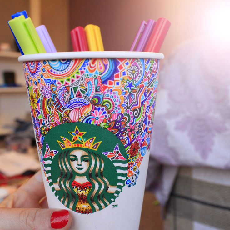 Kristina Webb. Starbucks cup. she's so creative. I ♡ her