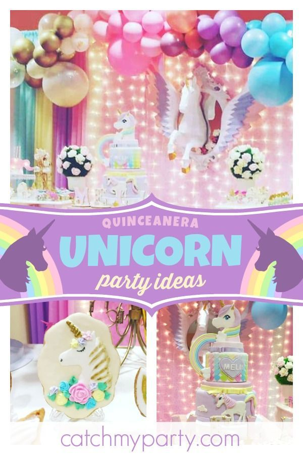 bd8ece772a6 Don t miss this magical unicorn birthday party! The party decorations are  gorgeous! See more party ideas and share yours at CatchMyParty.com   catchmyparty ...