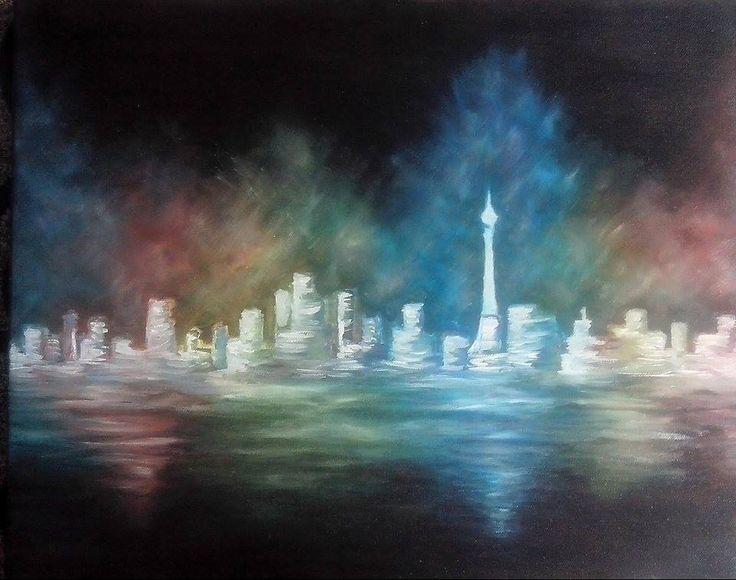 oil paint, The City