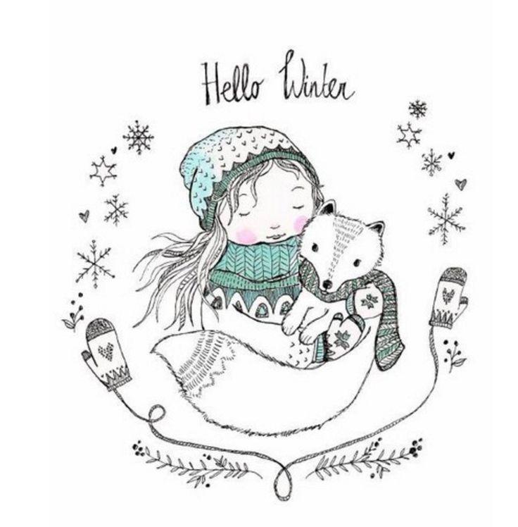 Милые зимние иллюстрации<br><br>#art@ideas.life <br>#настроение@ideas.life