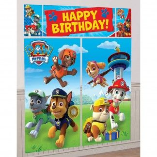 Our Paw Patrol Wall Decorating Kit will really add the wow factor to your Paw Patrol party.This Paw Patrol party decoration is made from lightweight plastic and can be stuck on a wall inside or out (blu tac, tape etc needed).Paw Patrol wall decorating kit comes in 5 separate pieces which you place together to achieve design shown (or separately around the room if you prefer)Kit contains-2 x large Paw Patrol scenes 82.5cm x 149cm.1 x Happy Birthday banner 111.7cm x 40.6cm.2 x Paw Patrol side…