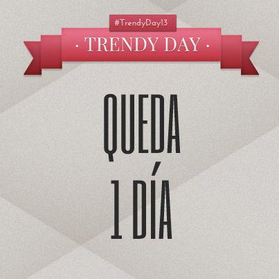 11 horas de #moda, ¿te vienes al #TrendyDay13? #Bcn