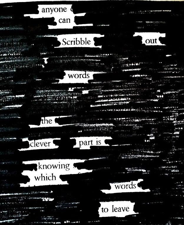 Blackout Poetry Program for Teens: Newspaper + Marker = Blackout Poetry! These poems are created by taking away words instead of adding them