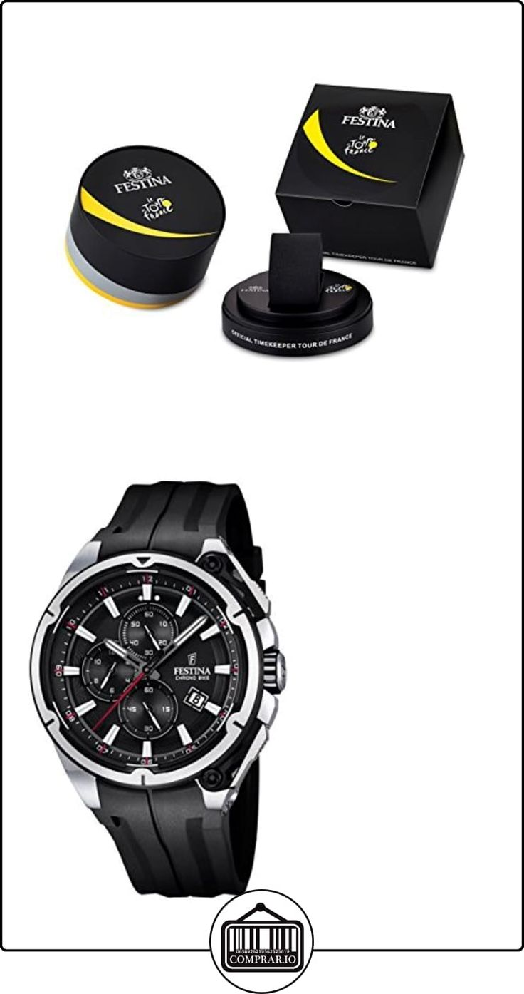 Festina F16882/4 - Reloj de pulsera hombre, Plástico, color Negro  ✿ Relojes para hombre - (Gama media/alta) ✿