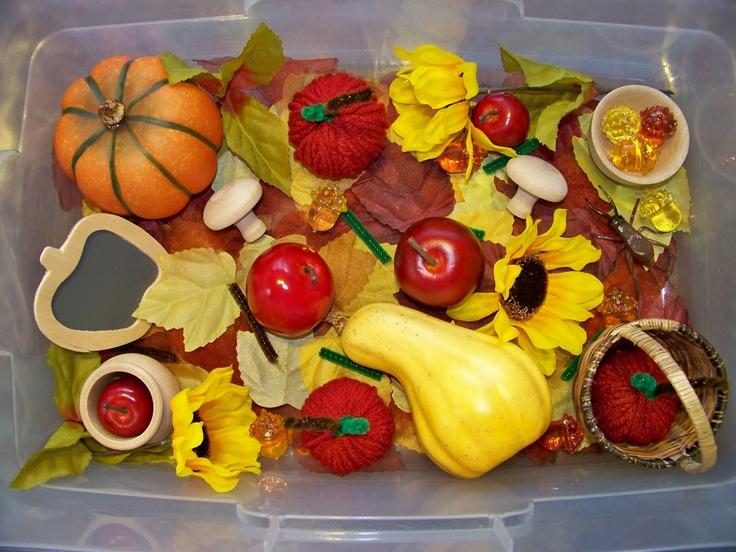 Autumn Harvest Sensory Tub Sensory Tub Sensory Boxes