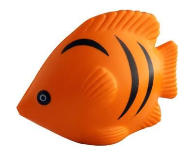 TROPICAL FISH ORANGE – S69  Price includes 1 color, 1 position print   2 Color imprint available for an additional charge  Decoration option: Pad print  Printing Size: 30mm x 25 mm  Product Size: 90mm x 70mm x 44 mm