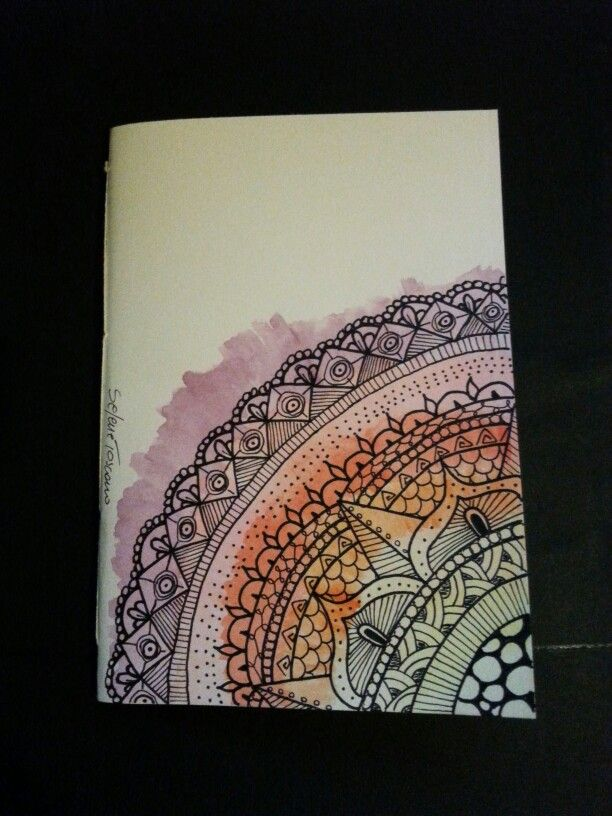 Illustrated Book Cover Notes : Illustrated notebook cover zentangle design diy