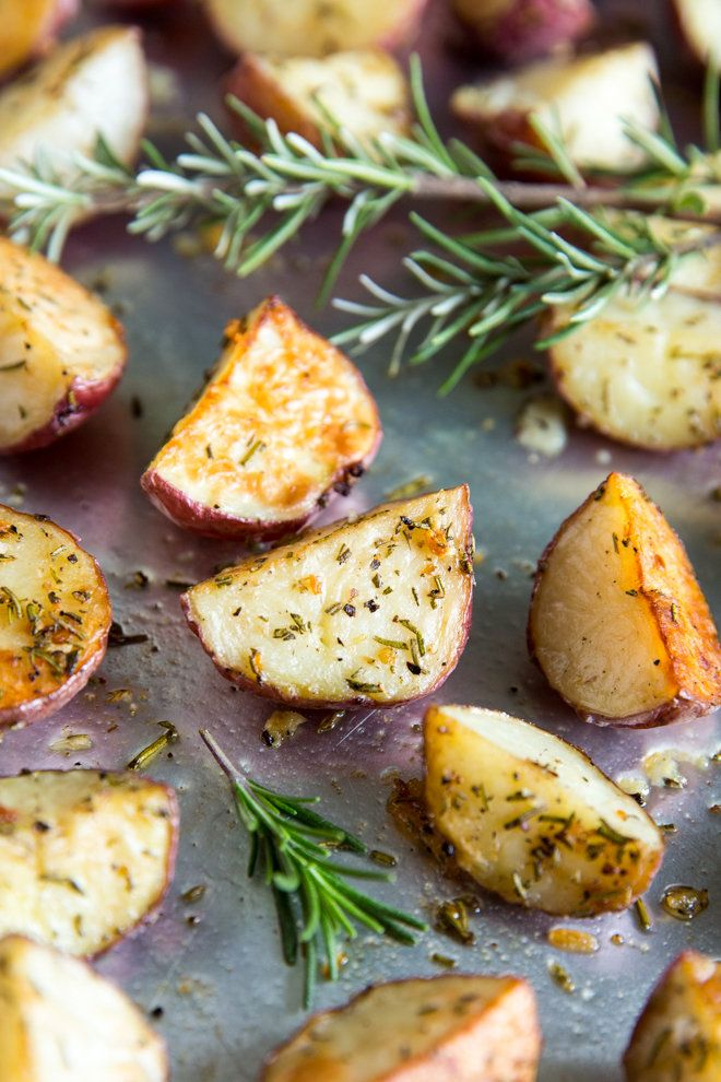 Rosemary Roasted Potatoes are an easy side dish with simple, rustic flavors. They are great for busy weeknights, lazy weekends, and holiday celebrations!