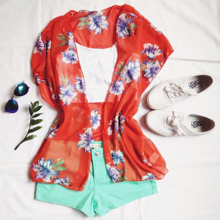 (top:$5.98, short:$17.98, kimono:$19.98) www.republiquecollection.com #modemontreal #fashion #mode #montreal #ootd #flatlay