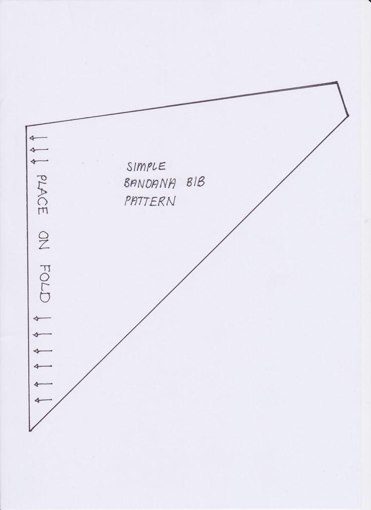 StyleNovice: {Step-by-Step Sewing} Simple Bandana Baby Bib 3m - 36m
