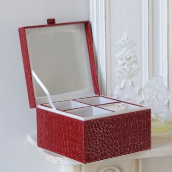 Victoria Jill Red Faux Leather Jewellery Box