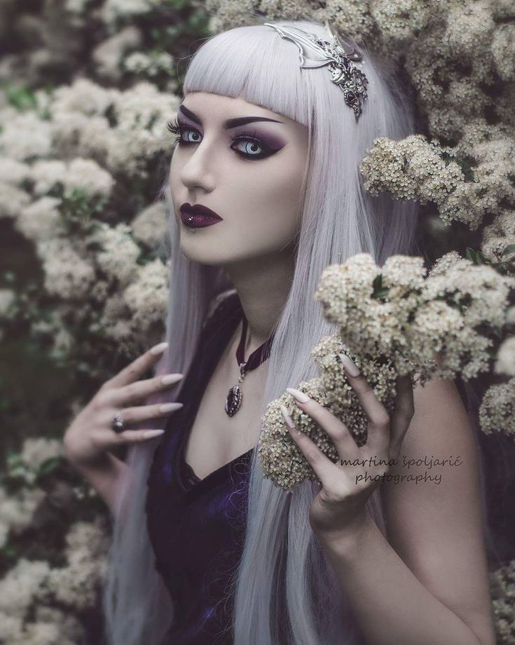 Headband and necklace #amonseuldesir  Dress #sinisterclothing #sinister  Lashes: @dodolashes (obsidiankerttu for 5% off) Photo @martina_spoljaric_photography  #goth #gothic #gothmodel #altmodel #gothicfashion #gothmakeup #gothjewelry #instagoth #batwings #romanticgoth #vamp #vampire #whitegoth #purple #gothstyle #flowers #fineart #dodolashes #falselashes #fauxlashes