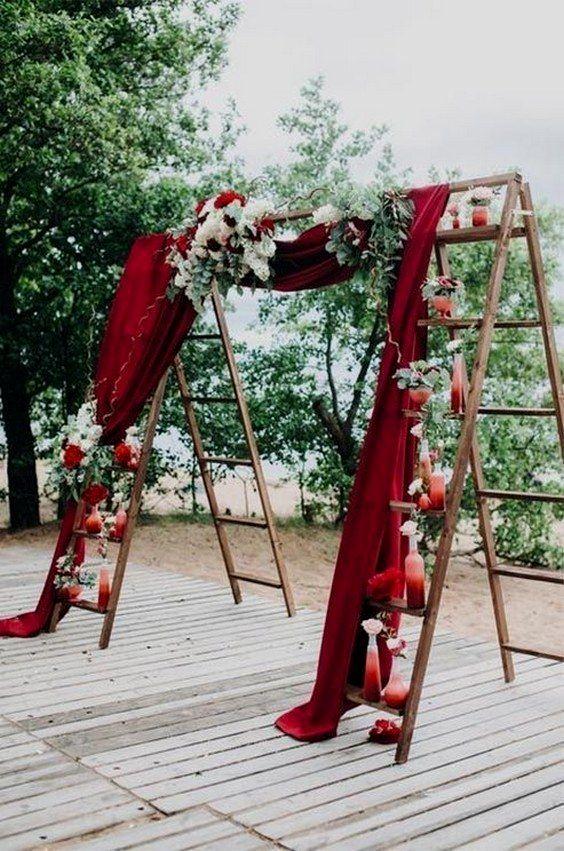 Hochzeitsdekoration im Freien