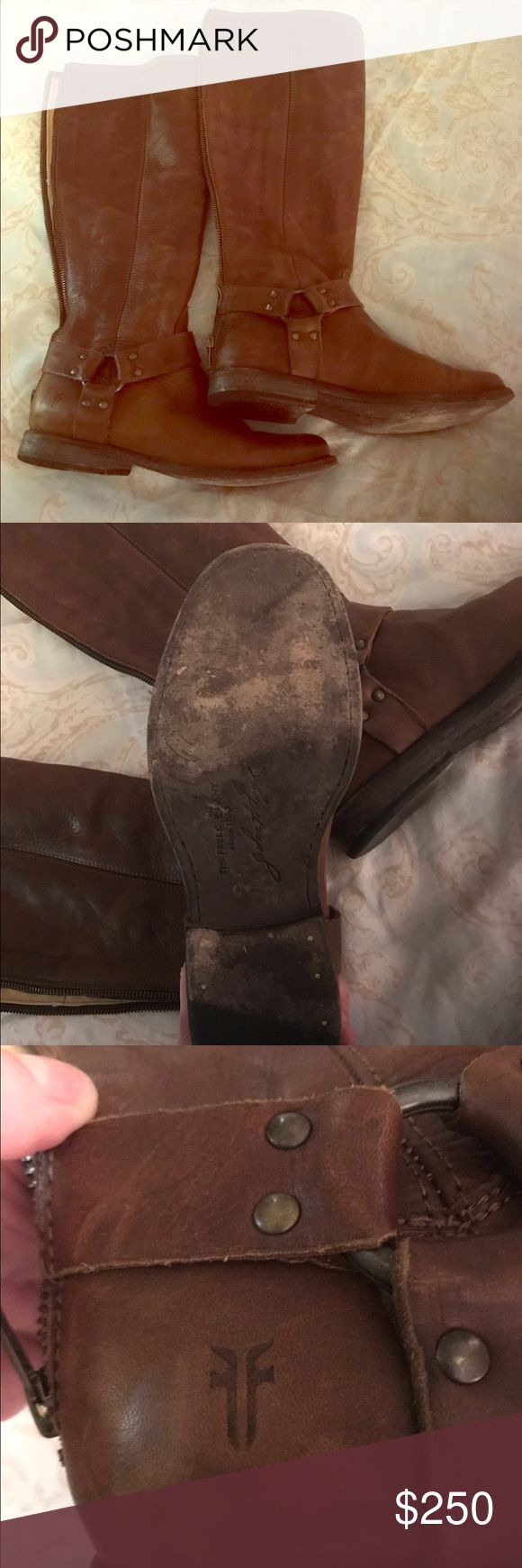 Frye Melissa boot with buckle - awesome! These Fryes have been worn three times (that's it!!). I really need a 9 unfortunately. But they can be yours!  Great condition! Frye Shoes