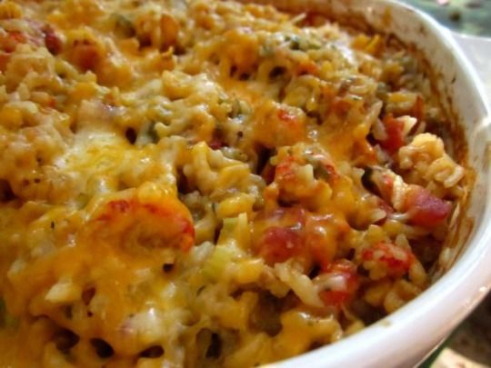 Louisiana Crawfish Casserole Recipe - Tried this last night and it was absolutely delicious. Note. though. if you use brown rice. cook it before adding to casserole.