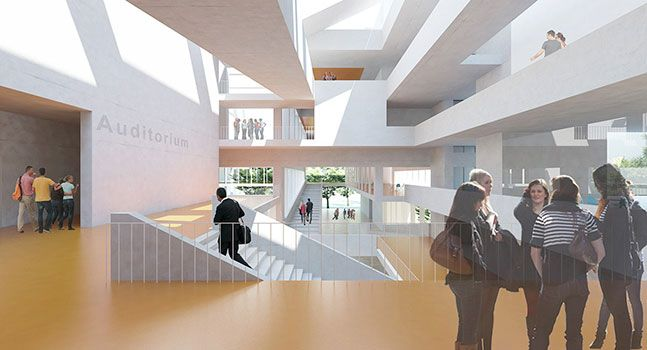 Institut Mines Telecom Paris Saclay, Paris      Context The master plan proposes streets, squares and boulevards with the poetic integration of landscape and ecology. It refers to the legacy of the great tradition of educational institutions...