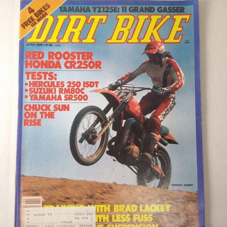 """""""RARE"""" DIRT BIKE MAGAZINE APRIL 1978 YAMAHA YZ125E, HONDA CR250R   eBay"""