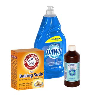 Diy Car Upholstery Cleaner..one Part Dawn Dish Soap Mixed With Two Parts  Hydrogen
