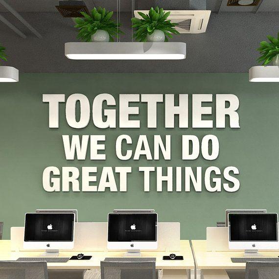 Office Decor Quote Teamwork Quote Business Decor