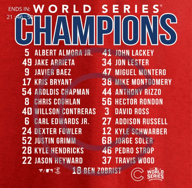 2016 Cubs World Series roster
