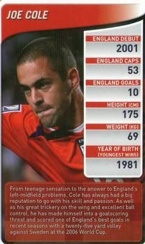 2009 Top Trumps England Football Stars #NNO Joe Cole Front