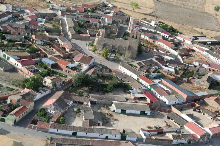 Vista aérea de Fuente el Saúz (Ávila)