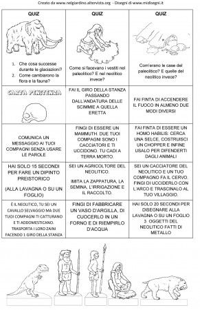 gioco oca carte quiz preistoria DA NELGIARDINO-2