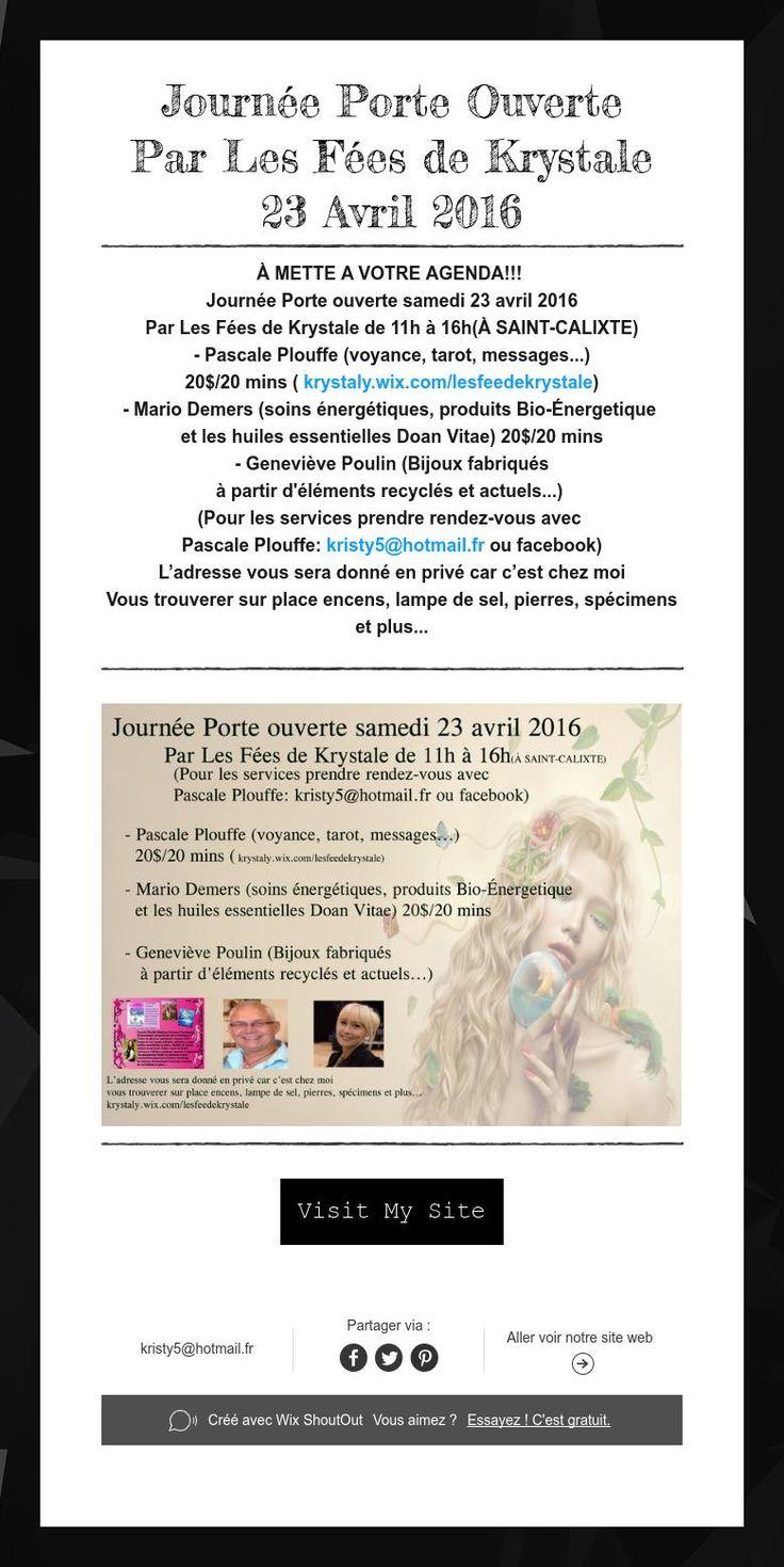 Journée Porte Ouverte  Par Les Fées de Krystale  23 Avril 2016