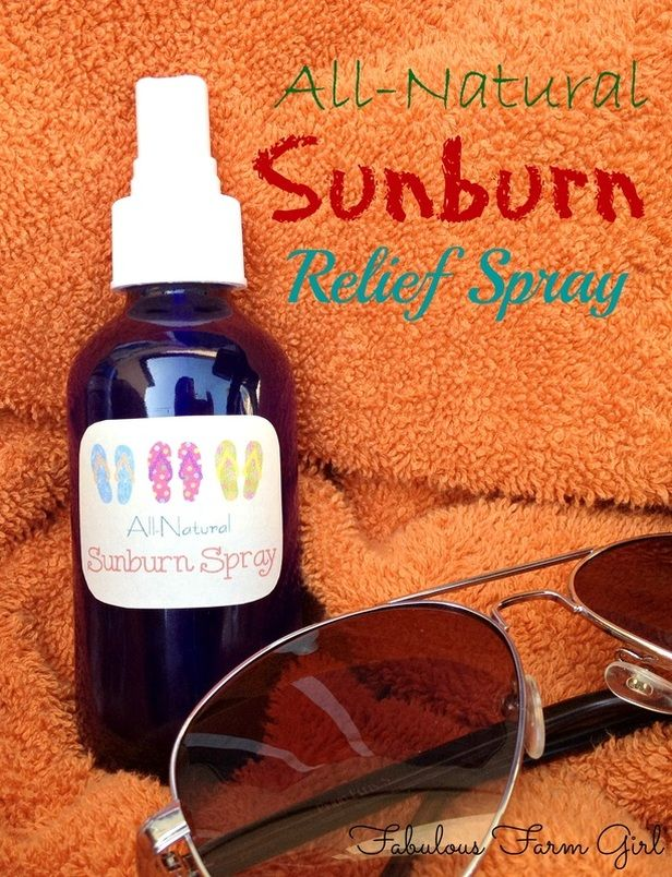All-Natural Sunburn Relief Spray by FabulousFarmGirl. Relieve sunburn pain quickly and easily. A summer must-have.