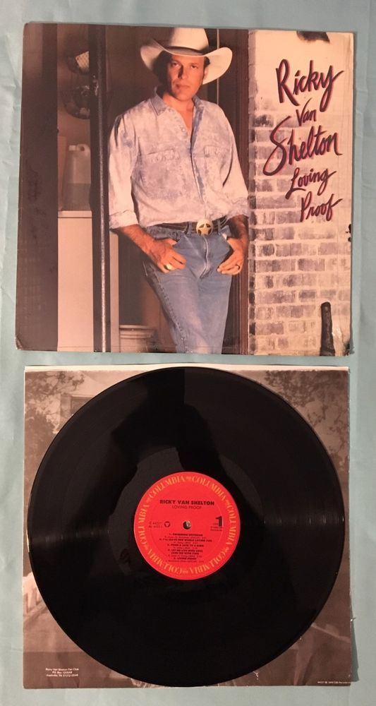 1988 Ricky Van Shelton Vinyl LP Loving Proof Columbia Records C 44221 VG+/VG+  | eBay