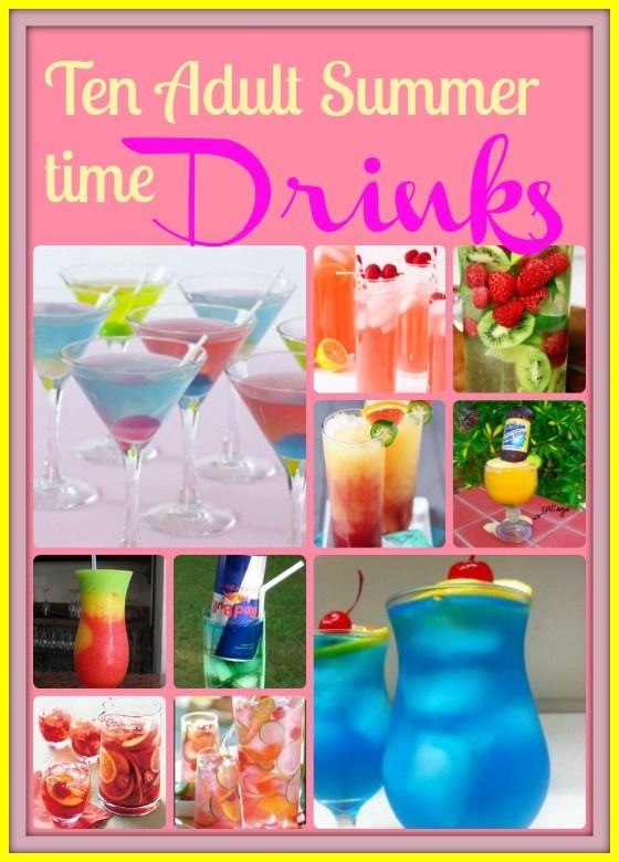 Summer time adult drinks, they look very pretty! Some for Sangria fans and others for Vodka fans :)