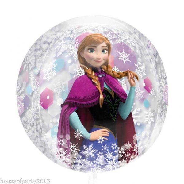 "15""x16"" Disney Frozen Orbz Elsa and Anna Foil Balloon Party Girls Decoration | eBay"