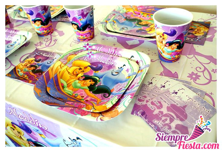 Artículos para fiesta de cumpleaños de Jasmine (Jazmín) de la Película Aladdin. Compra todo para tu fiesta en nuestra tienda en línea: http://www.siemprefiesta.com/fiestas-infantiles/ninas/articulos-princesa-jazmin.html?utm_source=Pinterest&utm_medium=Pin&utm_campaign=Jazmin