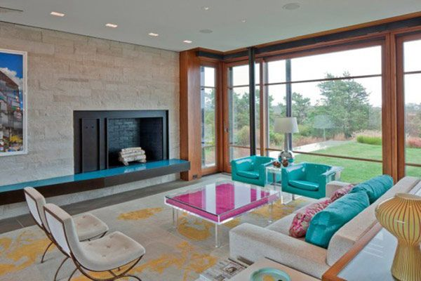 nice Color and Design Originality Showcased by Up-Over-Between House in USACoffe Tables, Hutker Architects, Living Room Design, Fireplaces, Interiors, Colors Room, Living Room Chairs, Windows, House