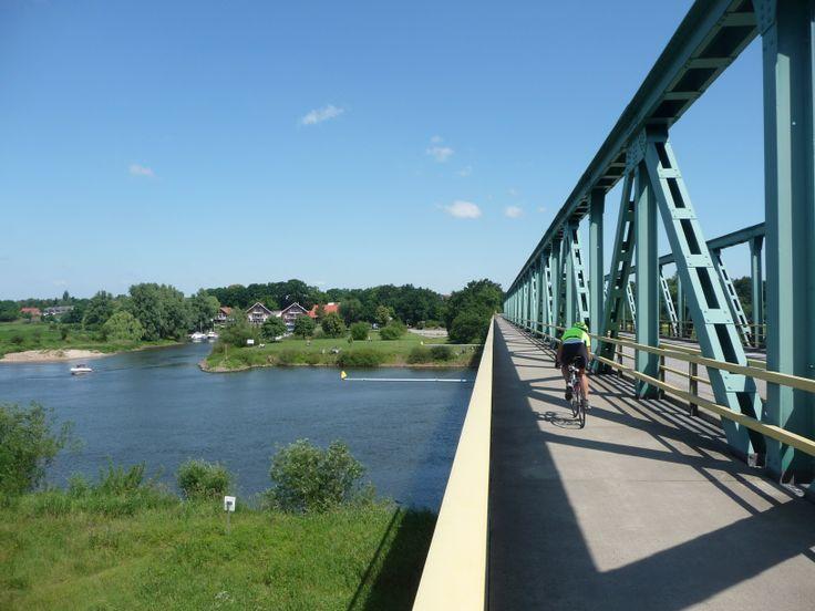 Radfahrer in Achim an der Weser