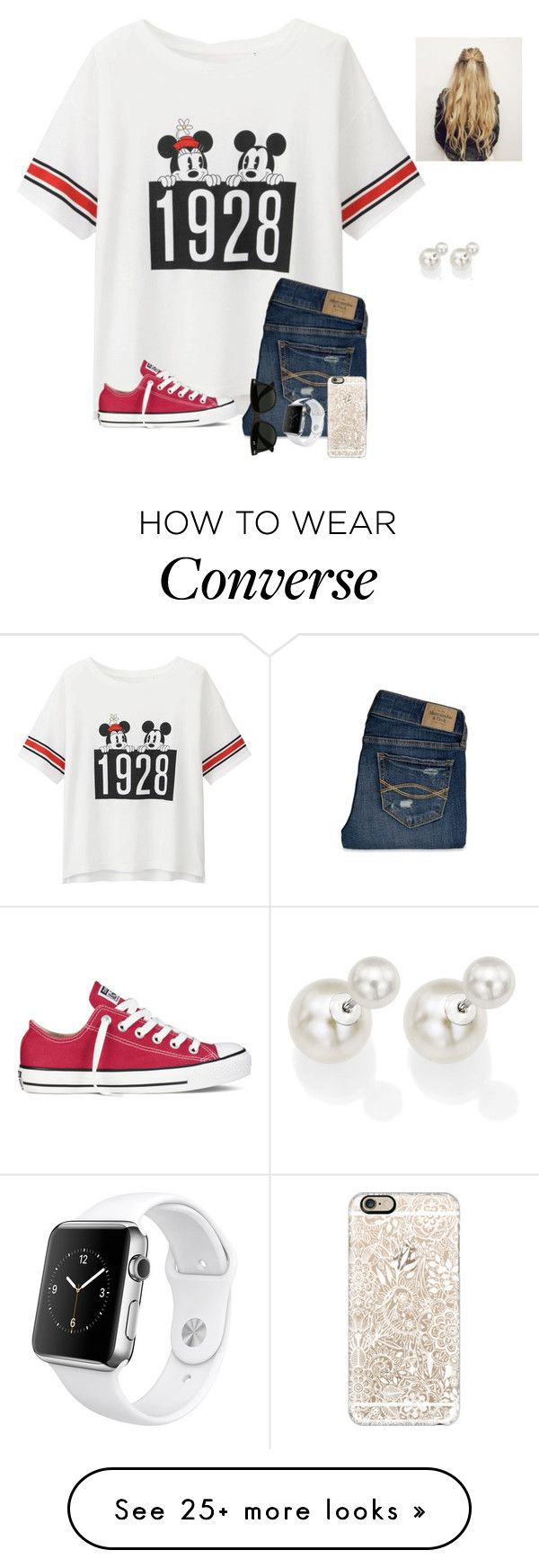 """Day 4- Hollywood studios"" by preppysisters101 on Polyvore featuring Uniqlo, Abercrombie & Fitch, Converse, Ray-Ban, Apple, Casetify, DaVonna and adevodisneytrip"
