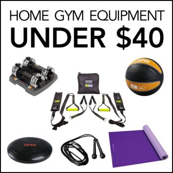 The Best Home Gym Equipment under $40- If you're sweating the cost of a pricey gym membership, here's the awesome truth—you can get just as fit right in your own home!