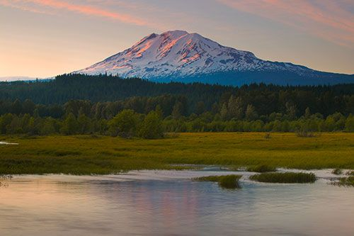 Mount Adams and Trout Lake