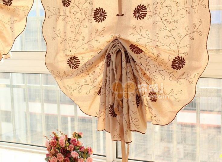 Новые лозы Ju Японский высокосортной занавес потянув воздушный шар подъемный занавес римские шторы вентилятор эркер шторы закончил - Taobao глобальной станция