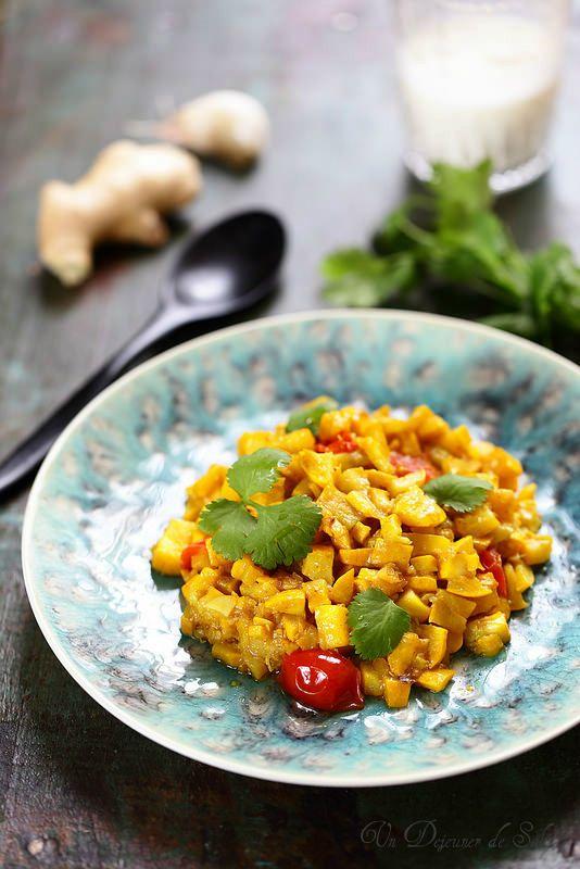 Un dejeuner de soleil: Caviar de courgettes à l'indienne