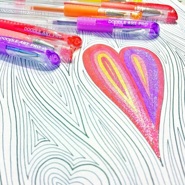 "Mental Images Coloring Books (@paivivesala_art) on Instagram: ""All you need is love - and coloring. * Pens: Doodle Art Professional gel pens Coloring book: Mental…"""