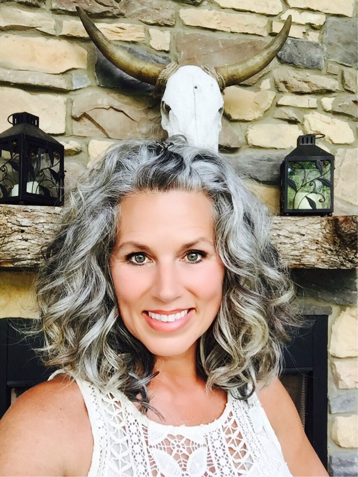 My transition almost complete #rockyoursilvercrown #grayisthenewblonde #melissahumphrieswellness                                                                                                                                                                                 More