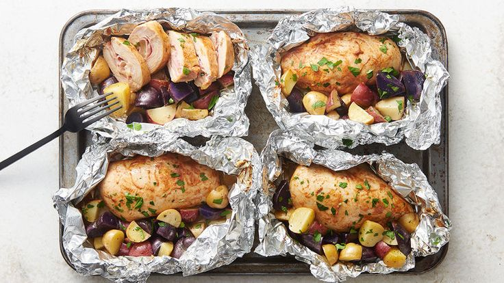 Consider your dinner plans foiled (but in the best way possible!). These foil packs, inspired by the classic French recipe, include ham- and cheese-stuffed chicken plus tender grilled potatoes, all coated in Dijon and butter. Yum.