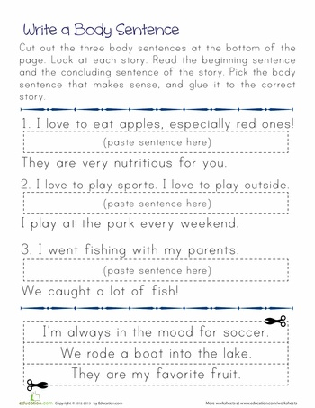 Supporting Sentences