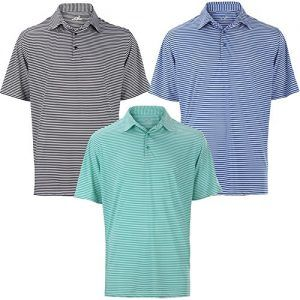 Woodworm Tournament Stripe Golf Mens Golf Polo Shirts 3 Pack XL